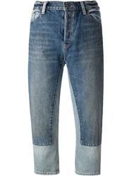 Marc By Marc Jacobs Wide Leg Cropped Jeans Blue