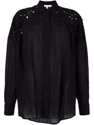 Iro Lace Inset Shirt Black