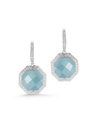 Patras Octagonal Aquamarine Diamond Earrings Ivanka Trump
