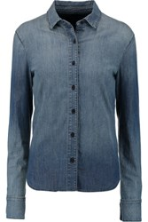 J Brand Azni Denim Shirt Mid Denim