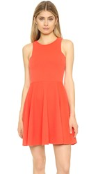 Jack By Bb Dakota Kennet Fit And Flare Dress Hot Coral
