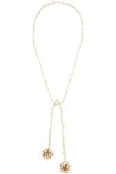 Rosantica Pom Pom Gold Tone Pearl Necklace