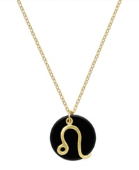 Studio Silver Leo Pendant Necklace In 18K Gold Over Sterling Silver