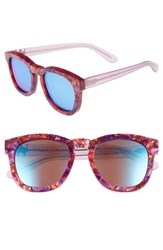 Wildfox Couture Classic Fox Deluxe 59Mm Sunglasses Wildflower Blue Mirror Wildflower Blue Mirror