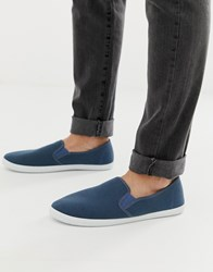 Dunlop Slip On Shoes In Navy