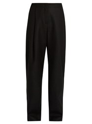 Acne Studios Selah Dry Wide Leg Wool Twill Trousers Black