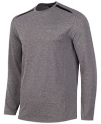 Greg Norman For Tasso Elba Men's Long Sleeve Performance Shirt Mid Heather Grey