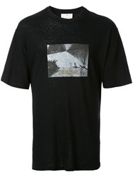 Song For The Mute Oversized Photo Print T Shirt Black