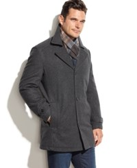 London Fog Big And Tall Classic Car Coat Charcoal