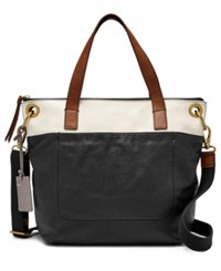 Fossil Keely Large Tote Black Multi