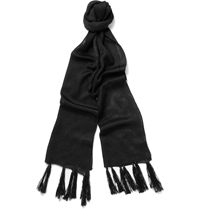 Kilgour Knitted Silk Scarf Black