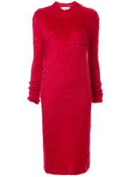 Ports 1961 Colour Block Knitted Dress Red