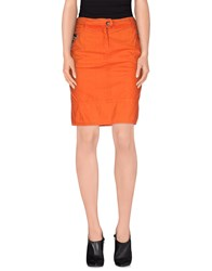 Roberta Scarpa Skirts Knee Length Skirts Women Orange