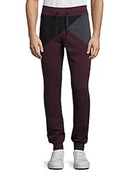Madison Supply Geometric Colorblock Jogger Pants Sassafras