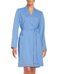 Lord And Taylor Knit Cotton Robe Persian Jewel