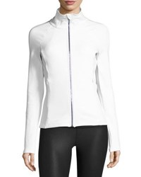 Alo Yoga Kata Knit Sport Jacket White