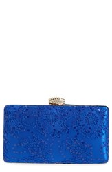 Jessica Mcclintock 'Noelle' Lace Clutch Blue Navy