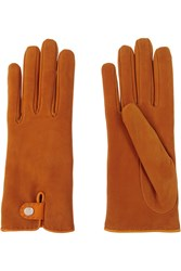 Causse Gantier Louise Nubuck Gloves Orange