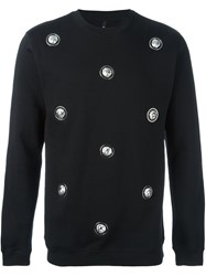 Versus Lion Studded Sweatshirt Black