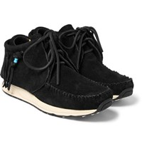 Visvim Fringed Suede Sneakers Black