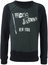 Marc Jacobs Logo Print Sweatshirt Black