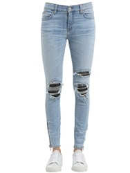 Amiri Destroyed Denim Jeans W Leather Patches