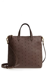 Madewell Mini Transport Perforated Leather Crossbody Bag Brown Castle Rock