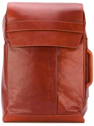 Maison Martin Margiela Backpack Men Leather One Size Brown