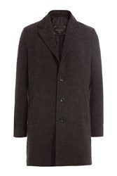 Palto Coat With Fleece Wool And Alpaca Brown