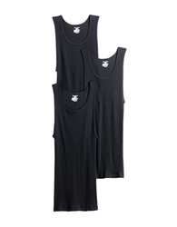 Jockey 3 Pack Cotton Tank Top Black