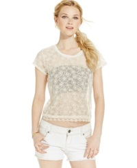 American Rag Embroidered Crop Top