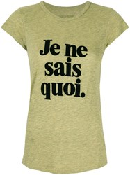Zadig And Voltaire Slogan Print T Shirt Yellow