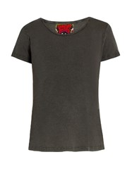 Rockins Short Sleeved Cotton T Shirt Dark Grey