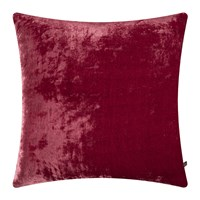 William Yeoward Paddy Velvet Cushion 50X50cm Raspberry