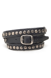 Will Leather Goods 'Laurel' Wrap Bracelet Black