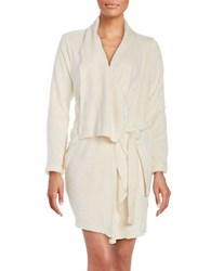 Lord And Taylor Fleece Robe Natural
