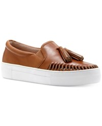 Vince Camuto Kayleena Flatform Sneakers Women's Shoes Equestrian Brown