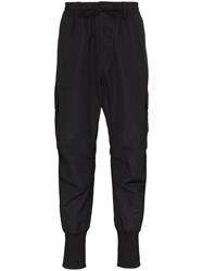 Y 3 Cargo Style Tapered Trousers Black