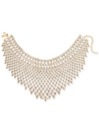 Inc International Concepts I.N.C. Silver Tone Draped Choker Statement Necklace Created For Macy's Gold