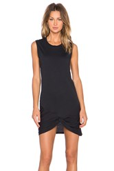 Zoe Karssen Knotted Muscle Tank Dress Black