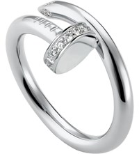 Cartier Juste Un Clou 18Ct White Gold And Diamond Ring
