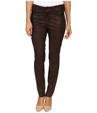 Nydj Petite Alina Leggings Jeans In Faux Leather Coating In Mahogany Brown Leather Coating Mahogany Brown Leather Coating Women's Jeans