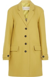 Burberry Wool Blend Coat Yellow