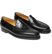 f5d40eea400 John Lobb Lopez Leather Penny Loafers Black
