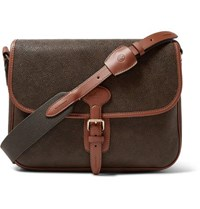 Mulberry Heritage Pebble Grain Leather Messenger Bag Green