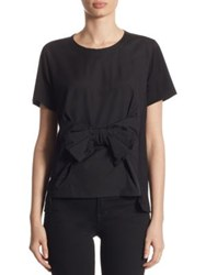 Comme Comme Cotton Bow Tee Black