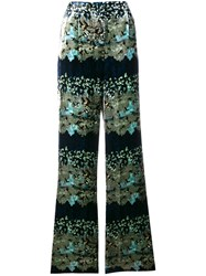 Ailanto High Rise Palazzo Trousers Green