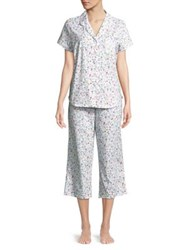 Karen Neuburger Two Piece Floral Printed Pajama Set Ditsy