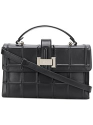 Rodo Embossed Check Tote Black