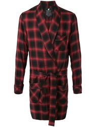 Loveless Checked Lounge Coat Red